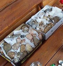 edelstenen en mineralen inpakken
